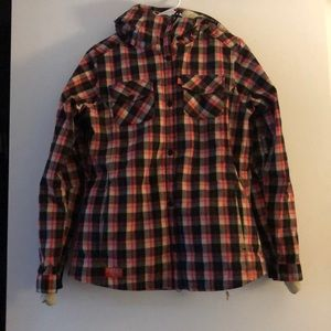686 women's ski and snowboard jacket flannel M